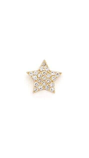 EF Collection Diamond Star Single Stud Earring