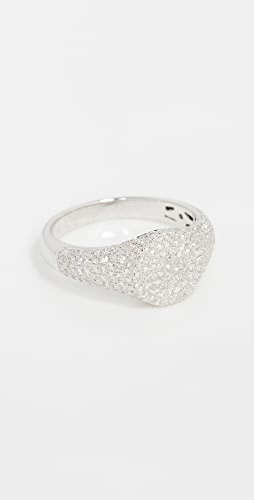 EF Collection - 14k Diamond Signet Pinky Ring