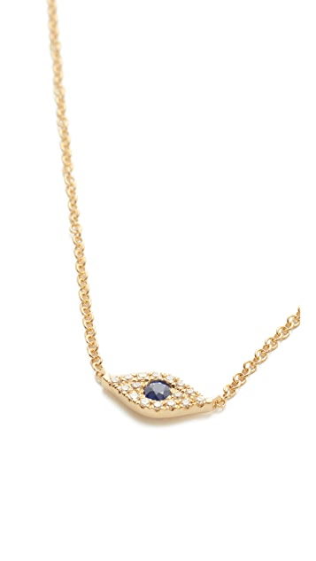 EF Collection Diamond Evil Eye Choker Necklace