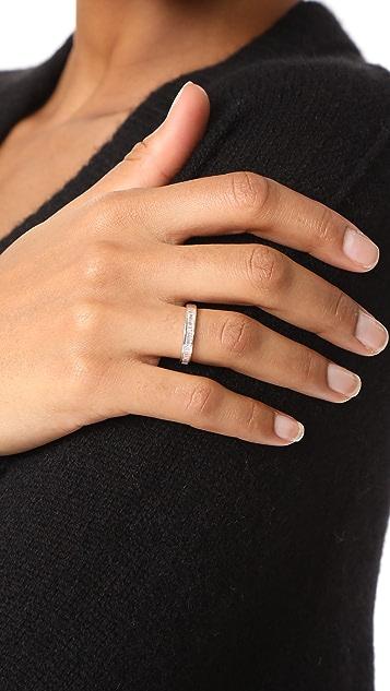 EF Collection 14k Half Diamond Baguette Stack Ring