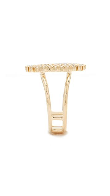 EF Collection 14k Gold Diamond Oval Ring