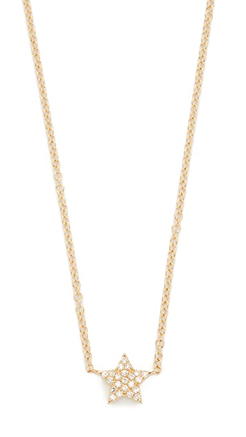 EF Collection Diamond Star Charm Necklace in 14K Yellow Gold vXf9cy3B5