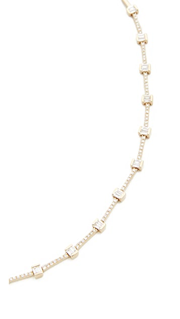 EF Collection 14k Gold Diamond Eternity Necklace