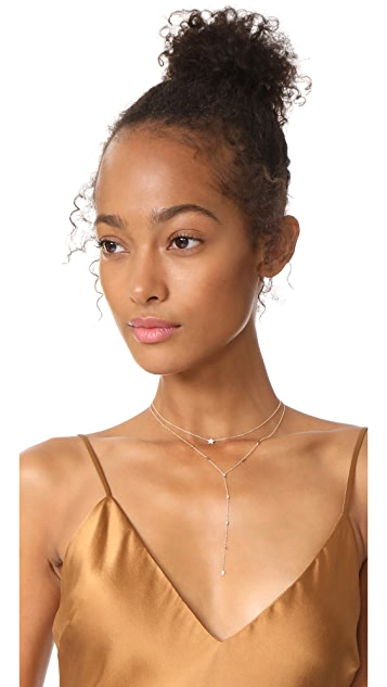 EF Collection 14k Gold Diamond Lariat Necklace