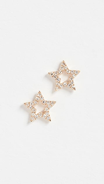 EF Collection star stud earrings - Metallic 3O3QWi