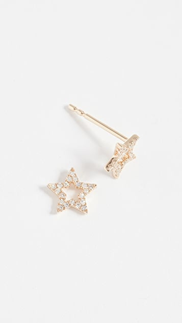 EF Collection star stud earrings - Metallic GbxXuDR