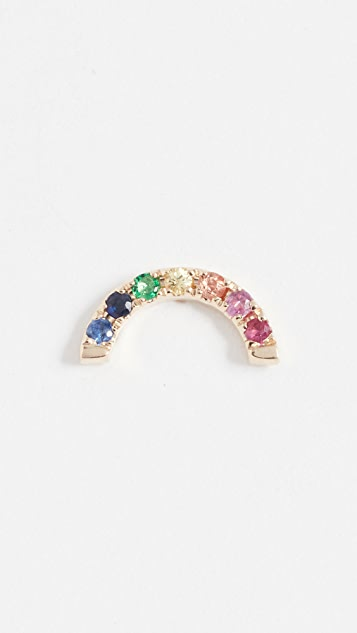 EF Collection 14k Gold Rainbow Stud Earring