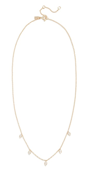EF Collection 14k Gold Diamond Multi Teardrop Necklace - Yellow Gold