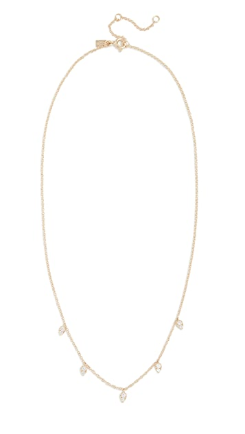 EF Collection 14k Gold Diamond Multi Teardrop Necklace