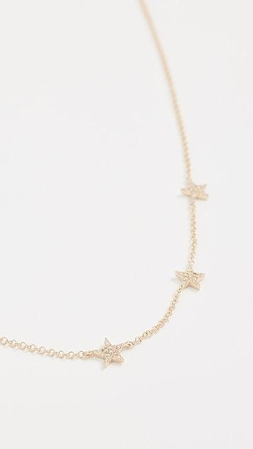 EF Collection 14k Gold Diamond 5 Mini Star Necklace MbkW9oG
