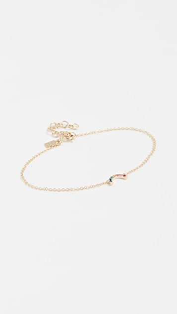 EF Collection 14k Gold Rainbow Bracelet