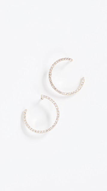 EF Collection 14k Gold Diamond Illusion Hoop Earrings