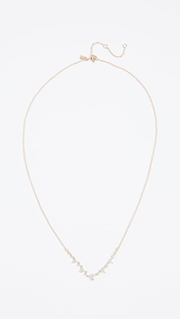 EF Collection 14k Gold Diamond Trio Tiara Necklace