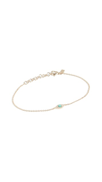 EF Collection 14k Evil Eye Chain Bracelet