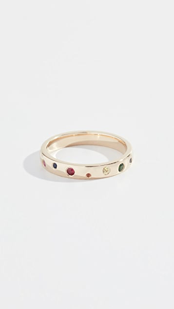 EF Collection 14k Rainbow Speckled Ring