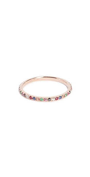 EF Collection 14k Rose Gold Rainbow Eternity Band - Rose Gold