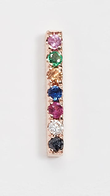 EF Collection Single Rainbow Bar Stud