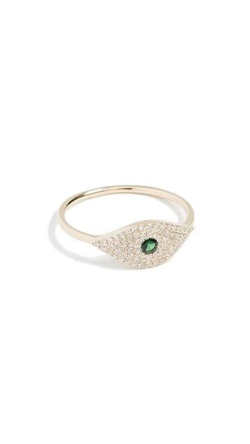 EF Collection 14k Jumbo Evil Eye Diamond Ring