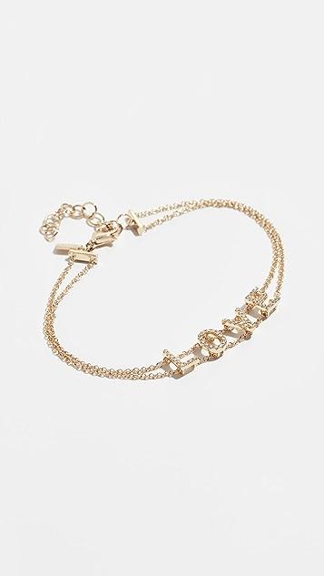 EF Collection 14k Diamond Love Initial Bracelet