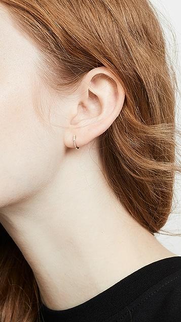 EF Collection 14K 迷你钻石基本款耳环