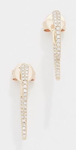 EF Collection - 14k Diamond Hook Earrings