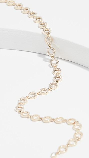 EF Collection Разомкнутый браслет Eternity из 14-каратного золота с бриллиантом