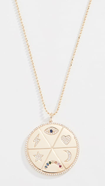 EF Collection 14k All The Feels Pendant Necklace