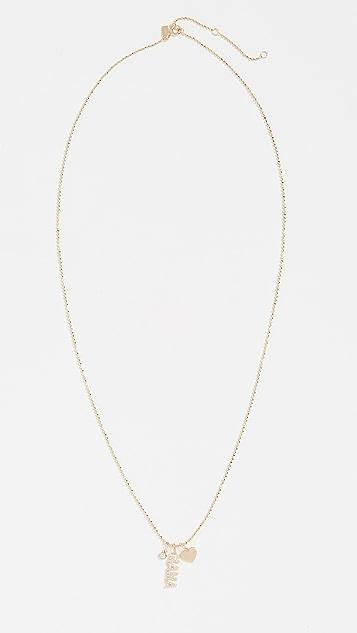 EF Collection 14k Diamond Mama Charm Necklace