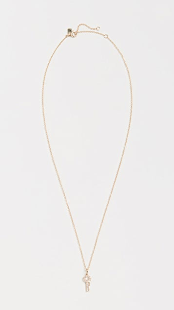 EF Collection 14k Mini Diamond Key Necklace