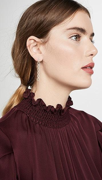 EF Collection 14k Diamond Chain Link Stud Earrings