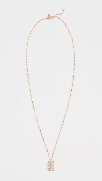 EF Collection 14K 钻石和白石英项链