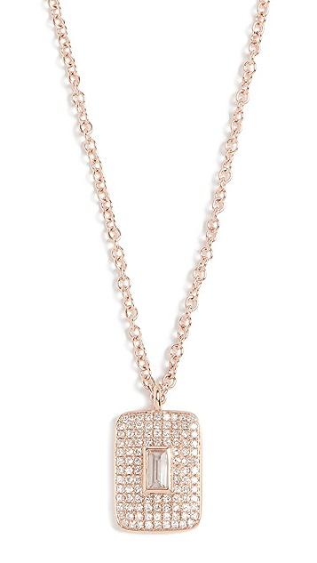 EF Collection Колье из 14-каратного золота с бриллиантом и белым кварцем