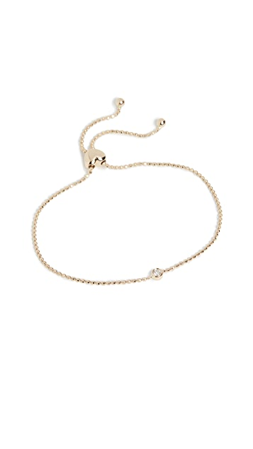 EF Collection 14K 金单钻包镶手链