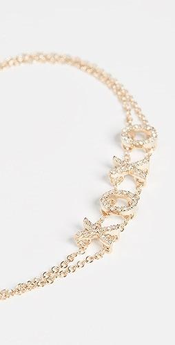 EF Collection - 14k 钻石 XOXO 手链