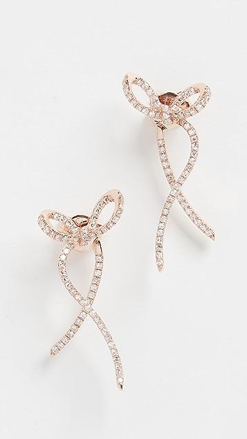 EF Collection 14k 钻石缎带耳环