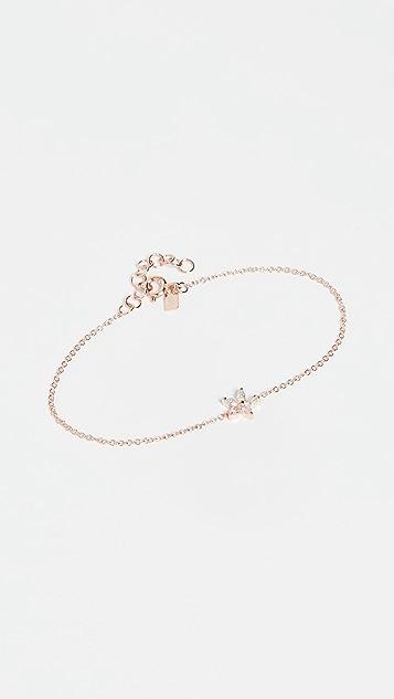 EF Collection 14k 马眼石钻石花朵链式手链