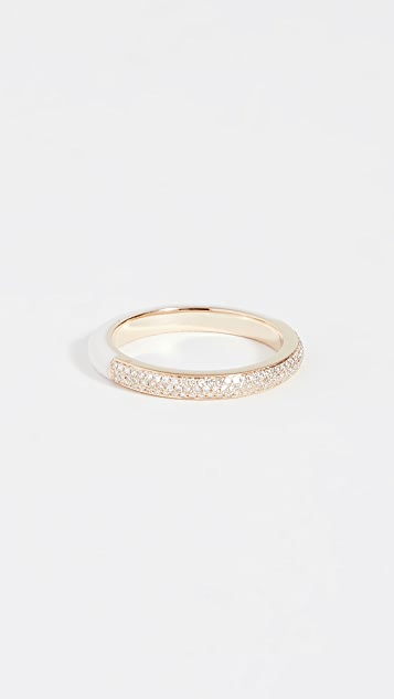 EF Collection 14k Two Tone Diamond and White Enamel Ring