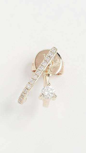 EF Collection 14k Single Prong Set Diamond Illusion Stud