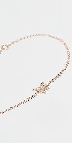 EF Collection - 14k Diamond Butterfly Bracelet