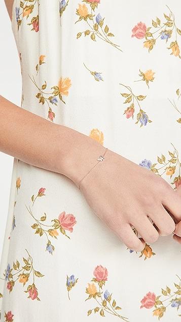 EF Collection 14k 钻石蝴蝶手链