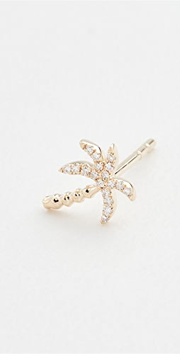 EF Collection - 14k Single Diamond Wild Palm Stud