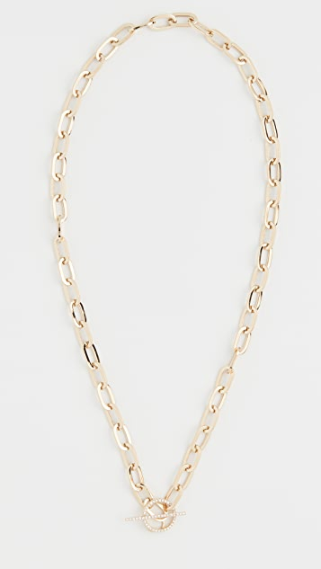 EF Collection 14k Jumbo Diamond Toggle Necklace