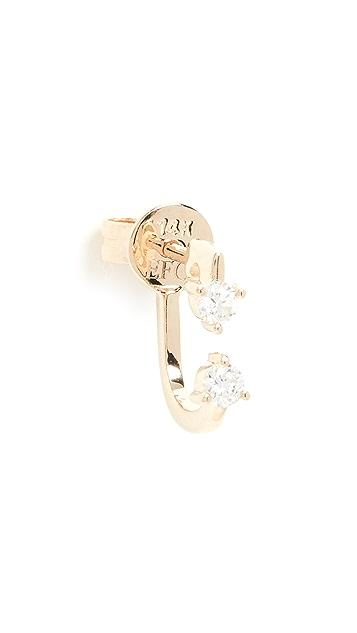 EF Collection 14k 双爪镶钻石耳环