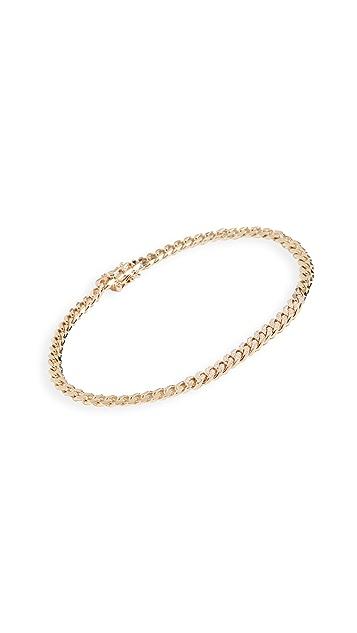 EF Collection 14k 钻石迷你锁链手链