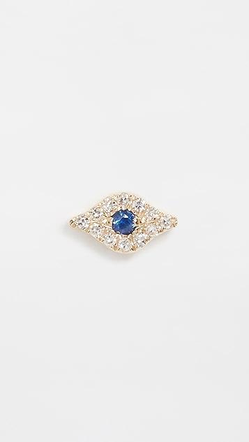 EF Collection 14k 单只迷你钻石魔眼耳钉
