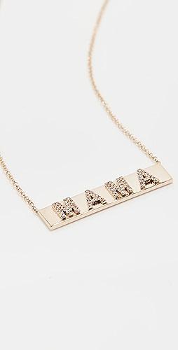 EF Collection - Diamond Mama Name Plate 项链