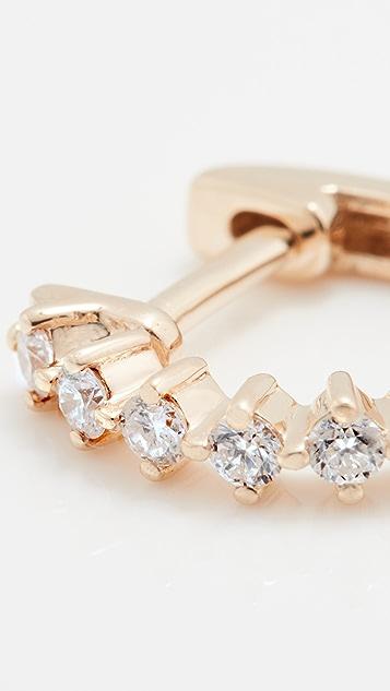 EF Collection Single Sloane Diamond Mini Huggie