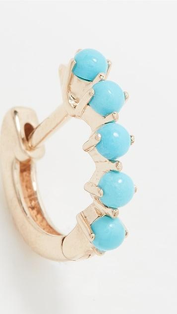EF Collection Sloane Turquoise Mini Huggie Earring