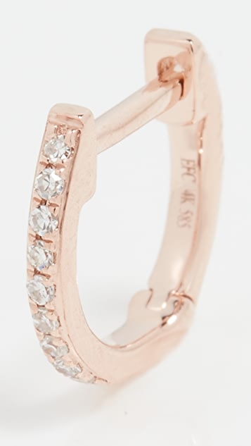EF Collection 14k 单颗迷你钻石贴耳耳环