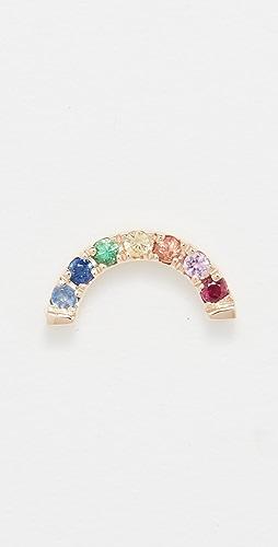 EF Collection - 14k 单钻彩虹耳钉